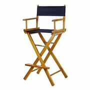 Casual Home 30 Directorand039s Chair Honey Oak Frame-with Navy Canvas Bar Height