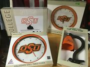 Lot Of 4 Osu Oklahoma St Cowboys Neon Light Clocks And Lamp Sign Man Cave Fan Gift