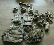British Army Desert Dpm Camo Tactical Load Carrying Vest With Pouches