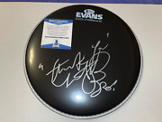 Charlie Watts Autographed Evans 10 Drumhead Rolling Stones Bas