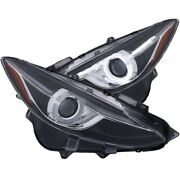 Anzo Projector Headlights With Halo Black W/amber 14-17 For Mazda 3 121522