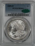 1889 O Morgan Silver Dollar 1 Pcgs And Cac Certified Ms 64+ Mint Unc Plus 047