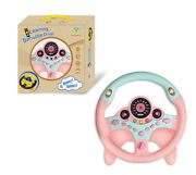 Portable Simulated Driving Steering Wheel Copilot Toy Childrenand039s Educational Toy
