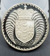 1979 New Zealand Silver 1 One Dollar Coin Km-48a Gem Uncirculated Proof