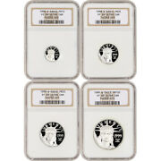 1999 W American Platinum Eagle Proof Four Coin Set Ngc Pf69 Ucam