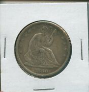 1860 S Seated Liberty Half Dollar Us Mint Silver Rare Date Coin 1860s