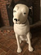Rare Vintage 1950andrsquos Rca Victor Phonograph Nipper Dog 3andrsquo Store Display Sign