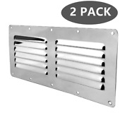 2x 12 Slots Louver Vent Stainless Steel Vent Marine Ventilation