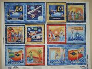 Mission Space Ranger Soft Quiet Story Book Cotton Fabric Panel Educational