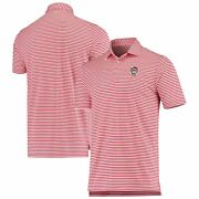 Nc State Wolfpack Southern Tide Driver Stripe Performance Polo - Red