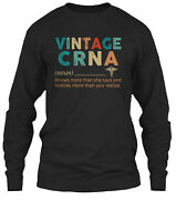 Vintage Crna Classic Long Sleeve T-shirt - 100 Cotton By Epic Professions