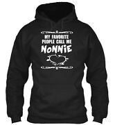 My Favorite People Call Me Nonnie Classic Pullover Hoodie - Poly/cotton Blend