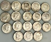 Lot 18 Kennedy Half Dollar Coins All 1964 9 Face Value Free Shipping