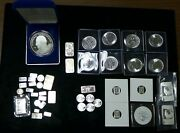 Lot Of 10 Oz 999 Silver In Odd Sizes 14510 Grams Etc. 43 Pieces