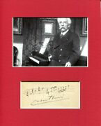 Gabriel Faure French Composer Signed Autograph Photo Display Amq Musical Quote