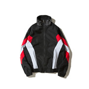 Street Short Loose Loose Personality Color Block Jacket Sports Menand039s Jacket