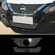 For Nissan Altima Teana 2016-2018 Silver Front Bumper Center Grille Grill 2pcs
