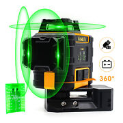 Kaiweets Laser Level 3d 360 Green Self-leveling Fixed Line Vertical Horizontal