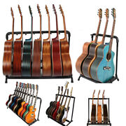3/5/7/9 Square Round Tube Multiple Guitar Bass Stand Holder Stage Folding Rack