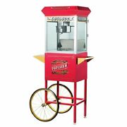Great Northern Red Antique Style 8 Oz Popcorn Popper Machine W/cart 8 Ounce
