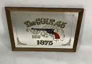 Rare Vintage The Colt .45 Hand Gun Large Framed Mirror Sign Wall Hanging 1970's