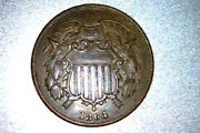 1864 Two Cent - Usa - Au Double Die Tc12