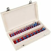 Stalwart - Rbs024 Router Bit Set- 24 Piece Kit With Frac14rdquo Shank And Wood S