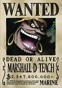 【 Marshall・d・teac 】one Piece Wanted Poster Official Mugiwara Store Limited A3