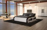 Waterbed Matera In Complete Set Black Heatable With Led Lighting Storage Items
