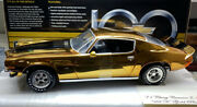 American Muscle Pre-production 1/18 Scale 1971 Camaro Z/28gold Plated 22 K Gold