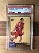 2009-10 Upper Deck Ud First Edition Gold Stephen Curry Rc 196 Psa 8 Rookie Card