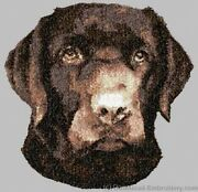 Embroidered Ladies Short-sleeved T-shirt - Chocolate Labrador Retriever Dle3722