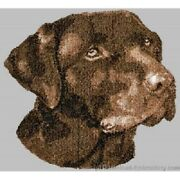 Embroidered Ladies Short-sleeved T-shirt - Chocolate Labrador Retriever Dle3839