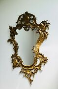 Large 29 French Antique Ornate Cast Brass Wall Mirror Frame Rococo Baroque 💖