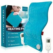 Heating Pad Upgraded Comfytemp Electric Heat Pad   9 Heat Setting Stay On 5 T...