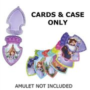 Sofia The First Talking Magical Amulet 12 Lesson Cards + Case Replacements New