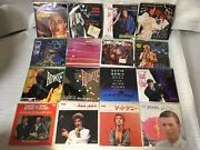 David Bowie 7inchep's Set Of 16 Japanese Edition Pat Metheny Mick Jagger