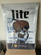 Miller Lite Beer Milwaukee Brewers 50th Anniversary Light Up Led Sign Game Room