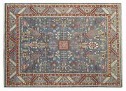 New Imported Antique Look Blue 9x12 Handmade Rug-1292