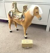 American Girl Doll Horse Saddle And. Hay Bale Play Set