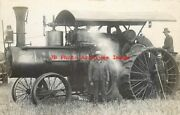 Unknown Location, Rppc, Large Steam Tractor In Farmers Field, Will Photo