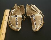 Native American Indian Childs Moccasins, Circ 1870-80s