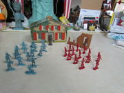 Vintage 1950's Marx Johnny Tremain Tin Litho Sons Of Liberty Building W/soldiers