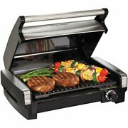 Electric Grill Bbq Indoor Outdoor Flavor Searing Easy Cleaning Patio Table Heat