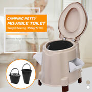 Flush Toilet Seat Portable Potty Commode Travel Camping Hiking Outdoor Indoor