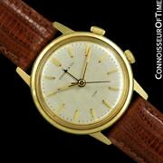 1960and039s And Co. Mens Vintage 14k Gold Alarm Reveil Watch - Mint W/ Warranty