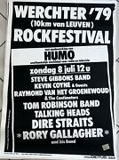 Werchter 1979 - Rory Gallagher / Dire Straits - 70x100cm - Rare Poster Rolled