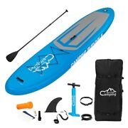 Portable 11 Adult Inflatable Sup Stand Up Paddle Board White And Dark Blue Andblack