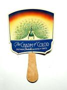 1930s Advertising Trade Card Paper Hand Fan Putnam Fadeless Dyes Tints