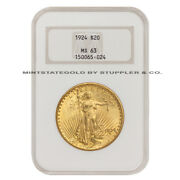 1924 20 Saint Gaudens Ngc Ms63 Choice Graded Gold Double Eagle Coin Well Struck